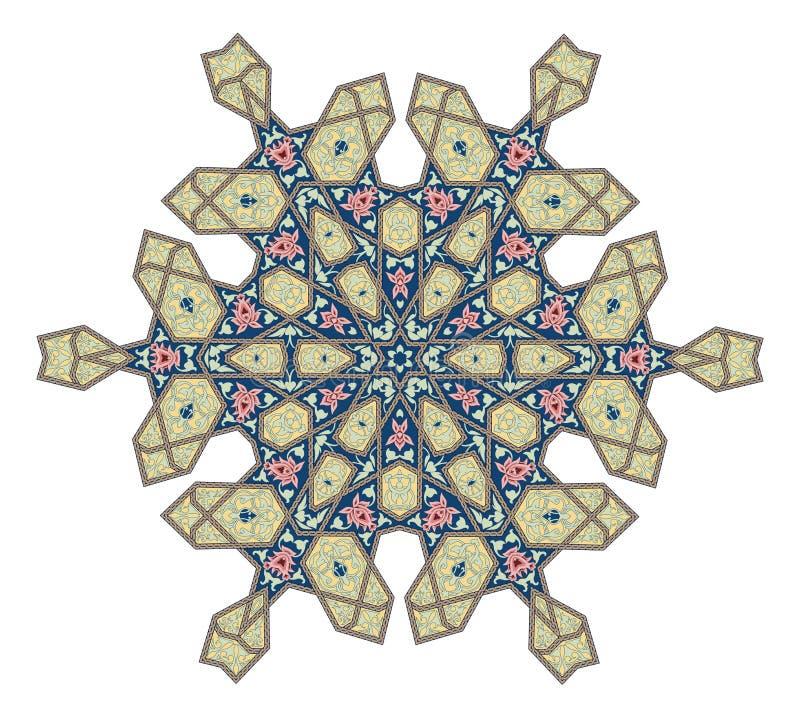 Motivo floreale del modello dell'ottomano illustrazione vettoriale