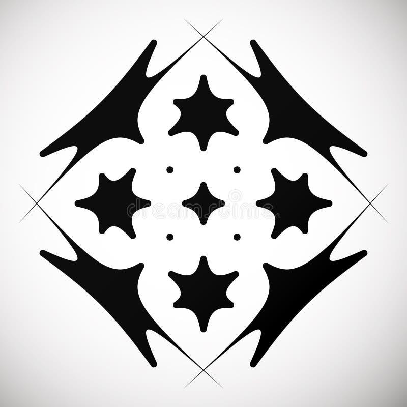 Motivo geométrico abstrato distorcido, elemento abstrato do projeto ilustração stock