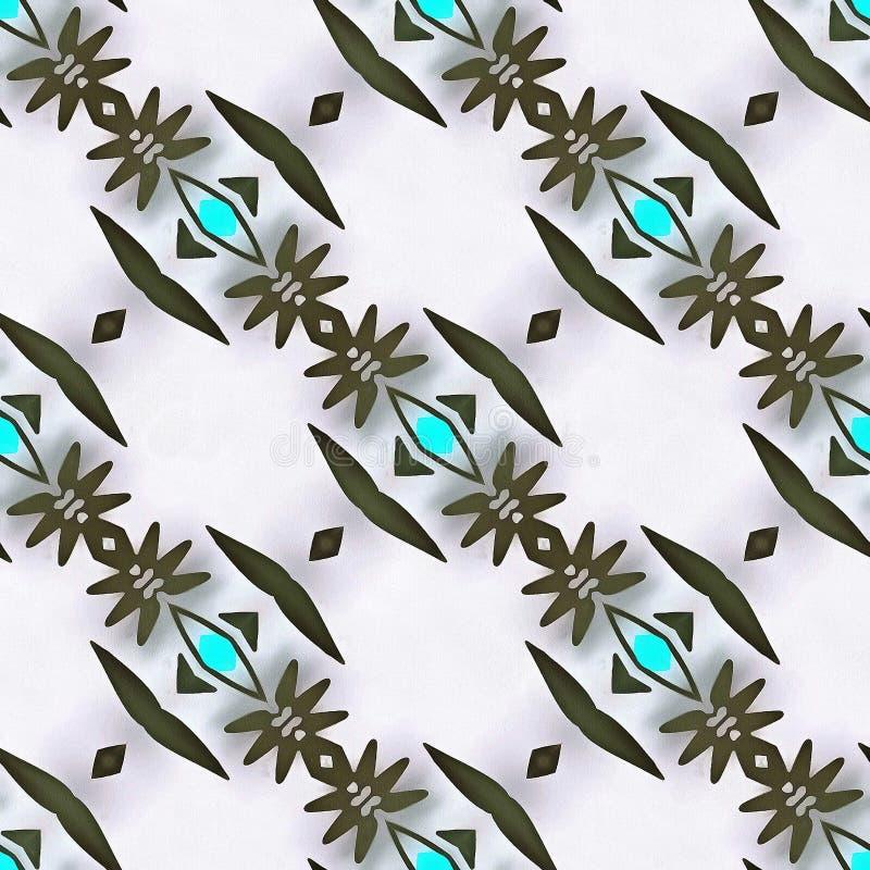 Motivo geometrico del caleidoscopio del batik immagine stock