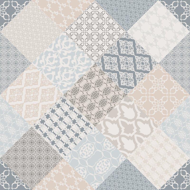 Motivo oriental do patternwith sem emenda da cor pastel ilustração royalty free