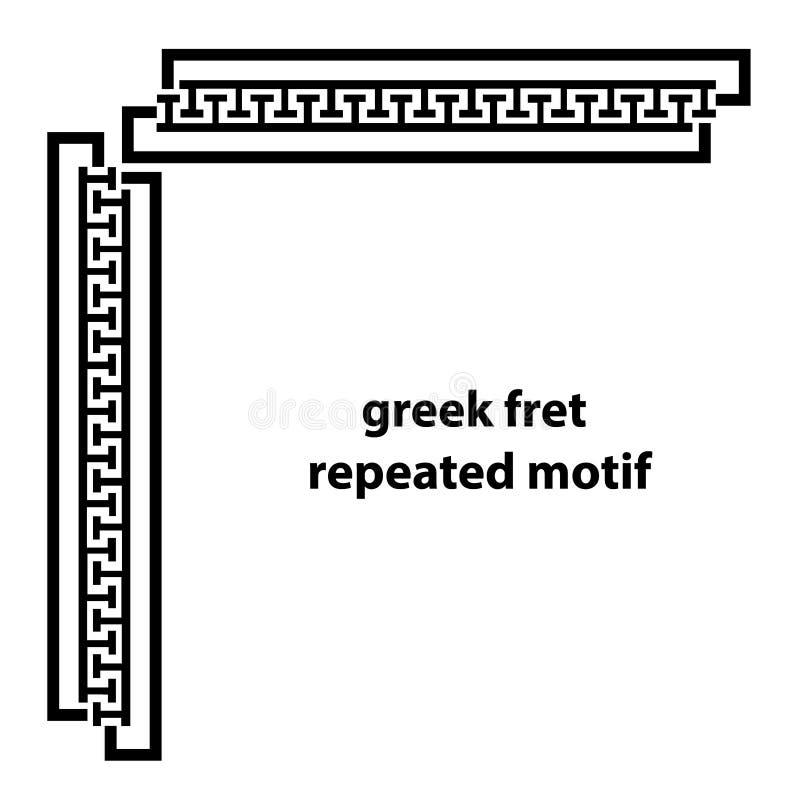 Motivo ripetuto cerchio greco Fondo in bianco e nero semplice illustrazione di stock