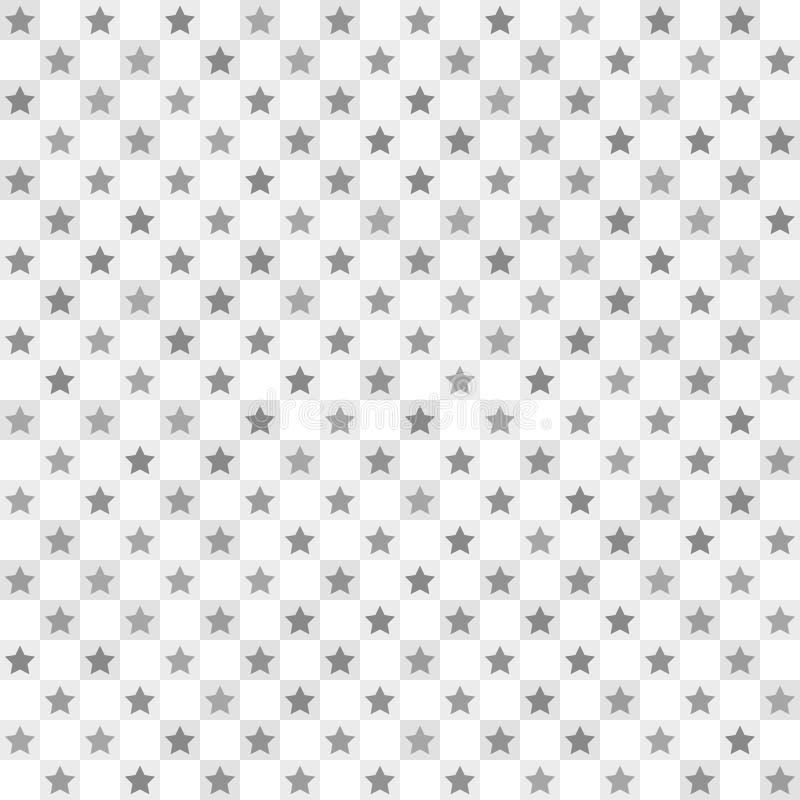 Motivo a stelle a quadretti Vettore senza giunte illustrazione vettoriale