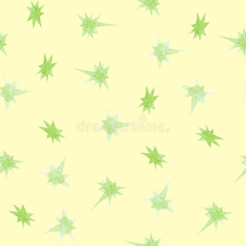 Motivo a stelle senza cuciture della galassia dell'acquerello illustrazione di stock