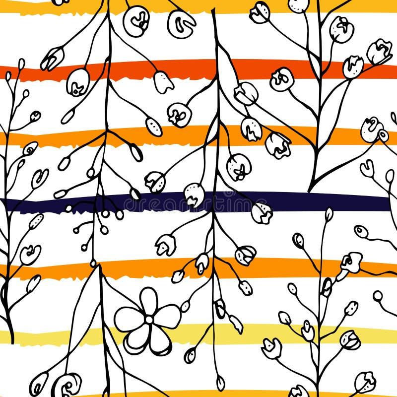 Motivo tropical, moderno das listras ilustração stock