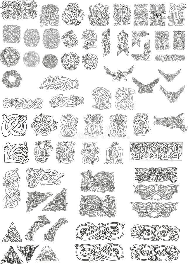 Motivos celtas ilustração stock