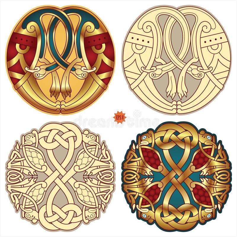 Motivos celtas ilustração royalty free