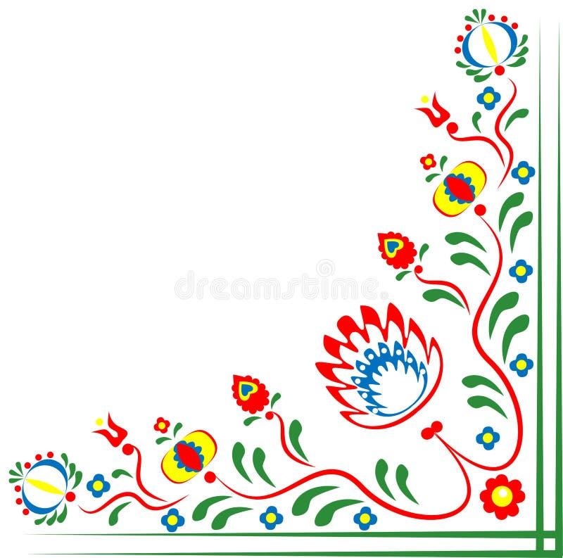 Motivos do folclore das flores ilustração do vetor