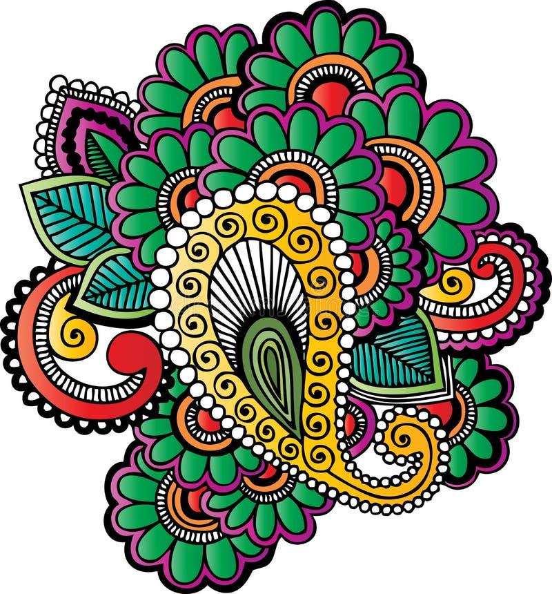 Motivos do tatuagem do Henna ilustração royalty free