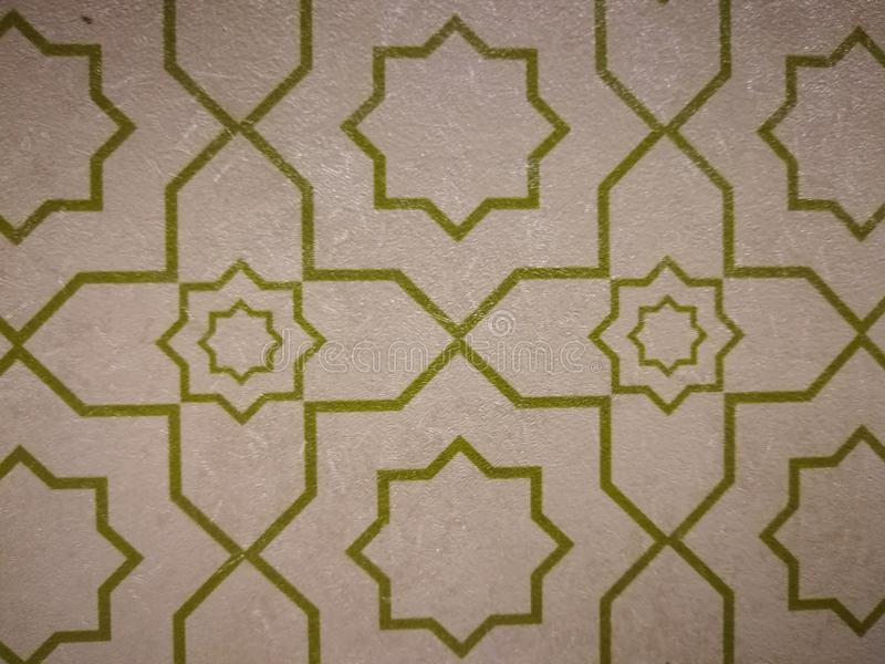 Motivos o arte islámicos imagen de archivo