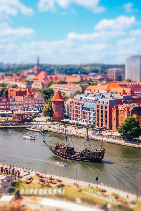 Motlawa river in Gdansk stock photos