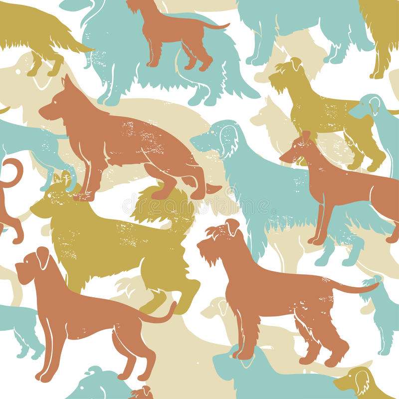 Free Motley Dog Breeds Seamless Pattern Stock Images - 53916034