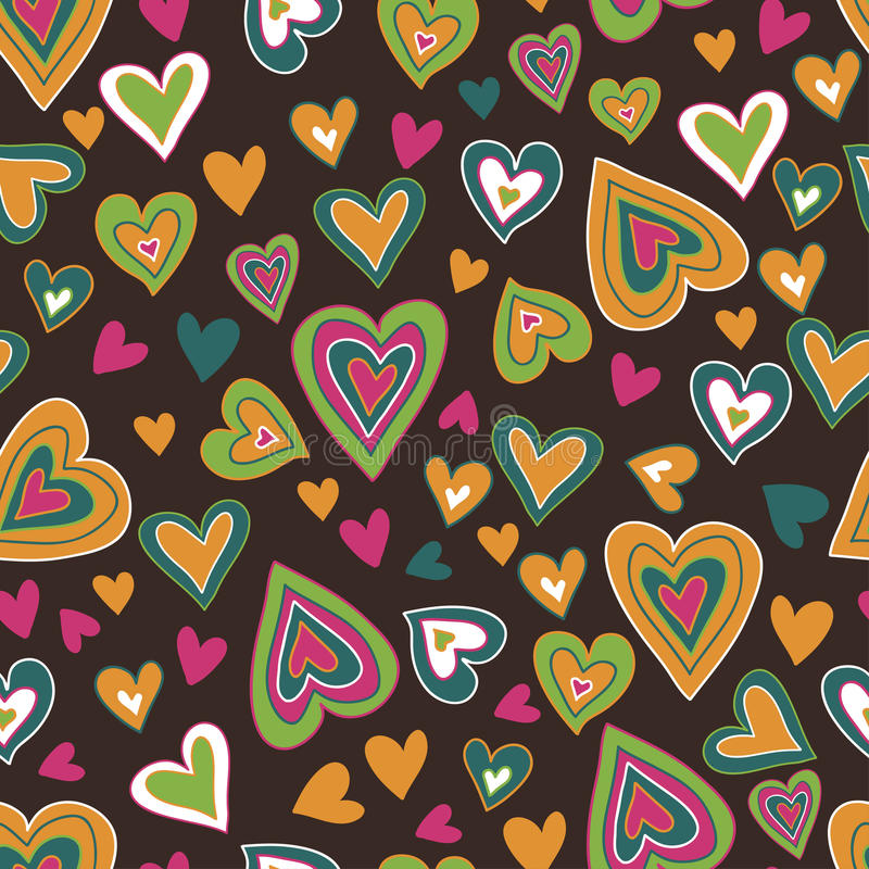 Free Motley Hearts Seamless Pattern Royalty Free Stock Photos - 29045688