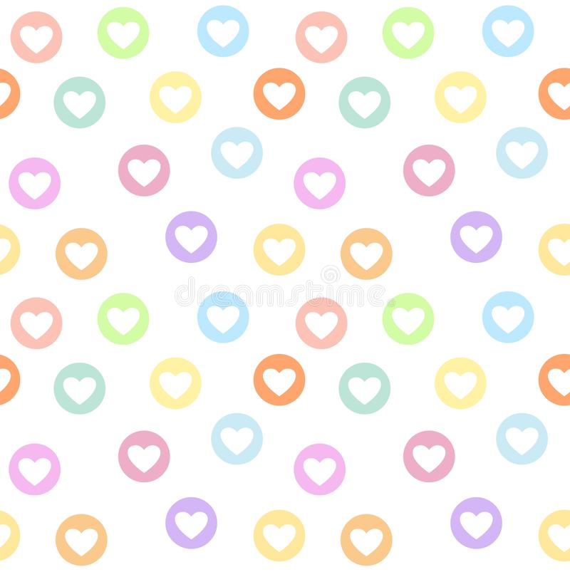 download motley seamless girly pattern with pastel colored heart circles stock vector illustration of pattern