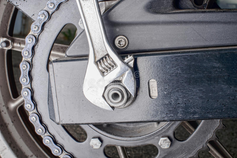 Moto à chaînes de transmission photos stock