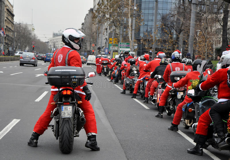 Moto Άγιος Βασίλης στοκ φωτογραφίες με δικαίωμα ελεύθερης χρήσης