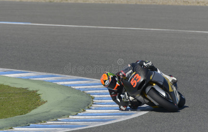Moto2在赫雷斯跑马场的测试-天2。 免版税库存图片