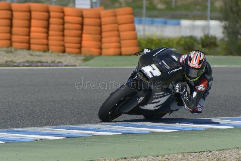 Moto2在赫雷斯跑马场的测试-天2。 图库摄影