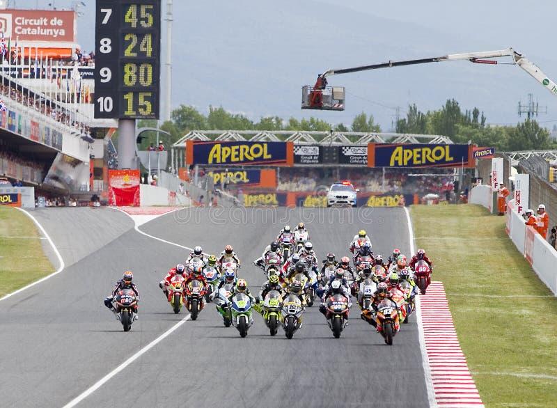 Moto 2 Grand Prix royalty free stock photo
