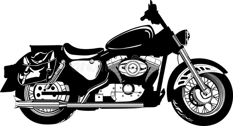 Moto illustration libre de droits