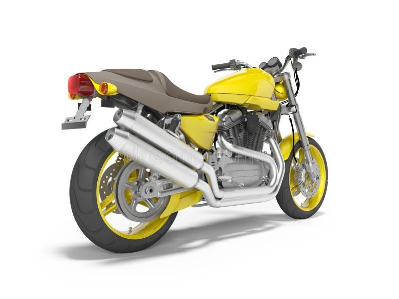 Moto amarilla para dos 3d aislados lugares rendir en el fondo blanco con la sombra ilustración del vector