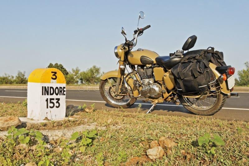 moto de la tormenta de desierto del jalón de Indore de 153 kms fotografía de archivo