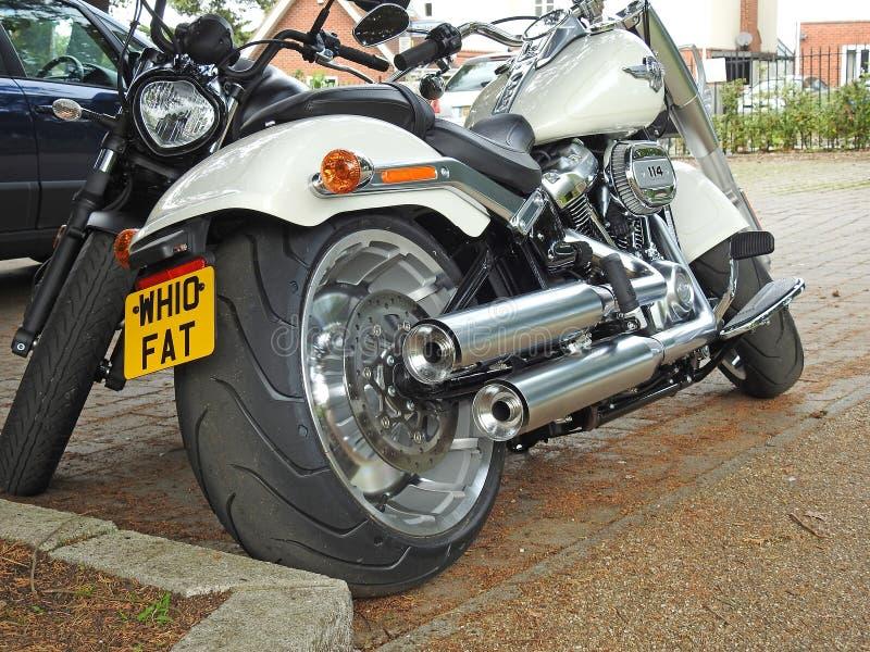Moto de motocyclette de couperet de superbike de Harley davidson images libres de droits