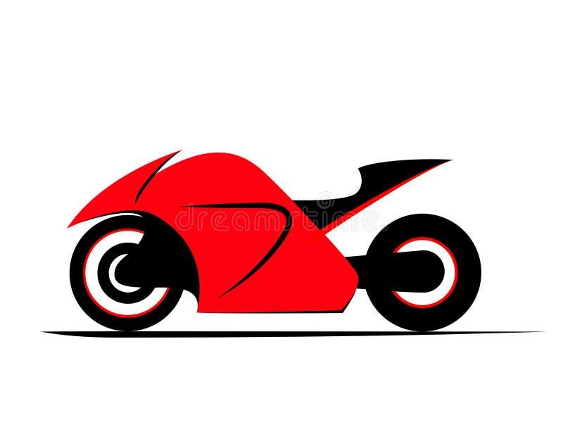 Moto de vélo de sport illustration de vecteur