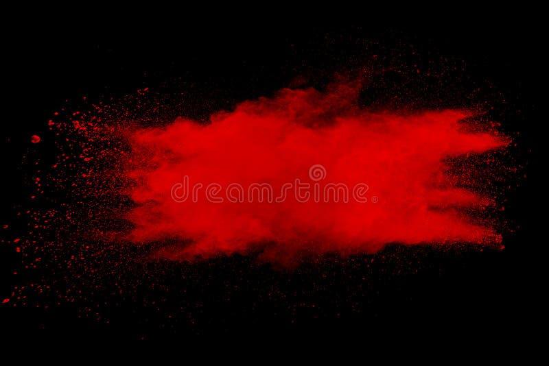 Moto della gelata di spruzzatura rossa di particelle di polvere illustrazione di stock