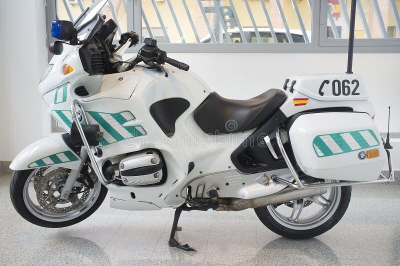 Moto espagnole de garde civile, groupe du trafic image libre de droits