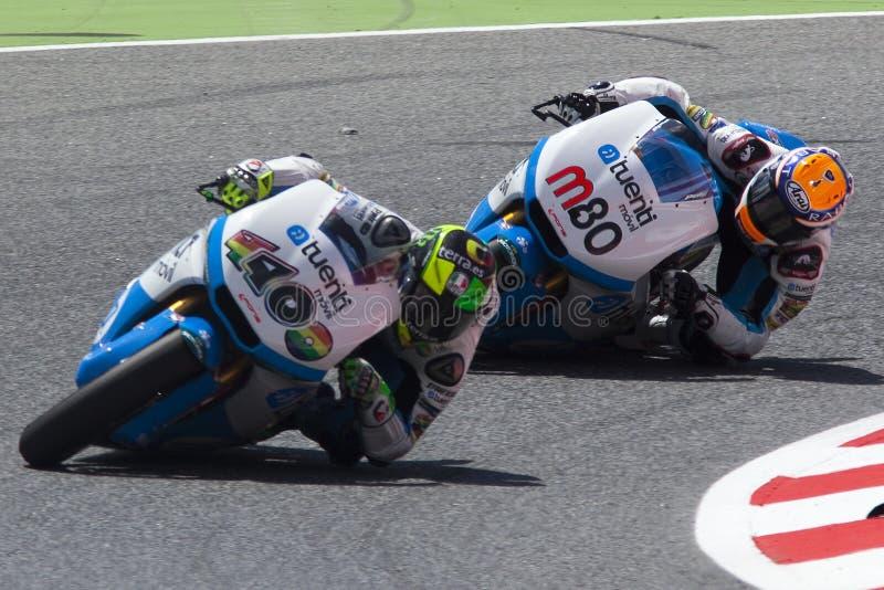 Moto2. Esteve Rabat And Pol Espargaro stockfotos