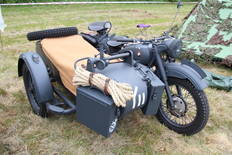 Moto et sidecar allemands images stock