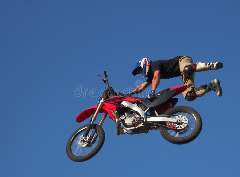 Download Moto X Freestyle 1 stock photo. Image of helmet, wheel - 1299476