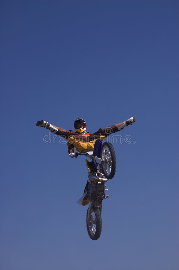 Download Moto X Freestyle 10 stock photo. Image of rider, blue - 1362660