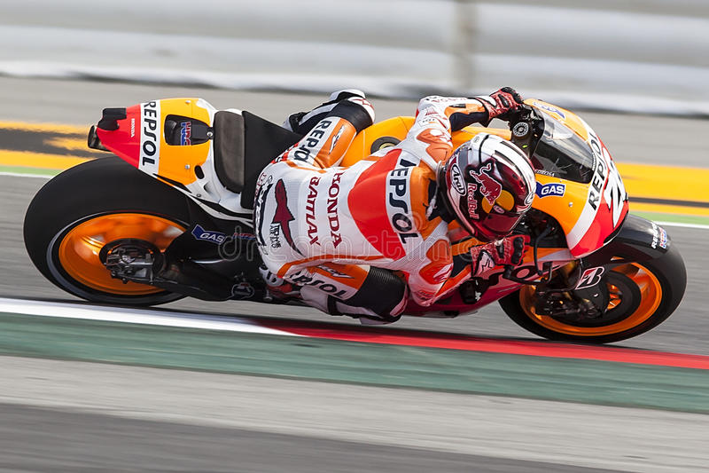 Moto GP. Dani Pedrosa arkivbilder