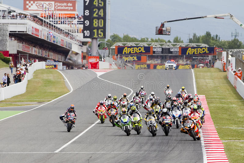 Moto Grand prix photo stock