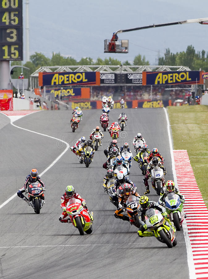 Moto Grand Prix stock photography