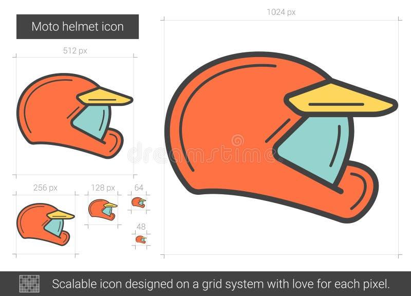 Moto hjälmlinje symbol stock illustrationer