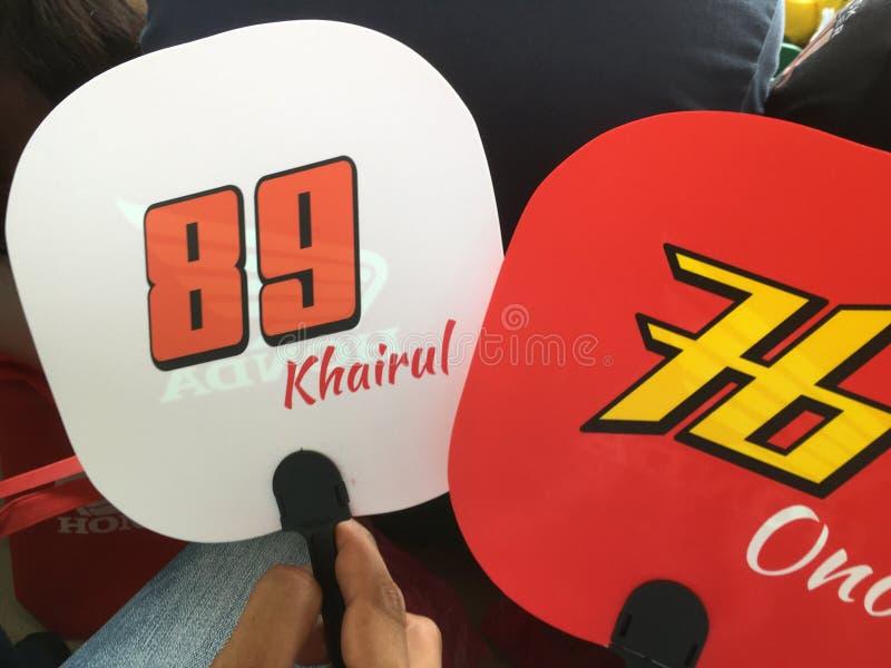 Moto3 Honda Team Asia fotos de stock royalty free