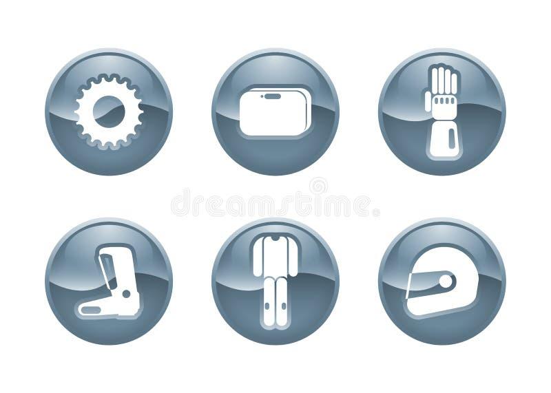 Moto Icons Royalty Free Stock Image