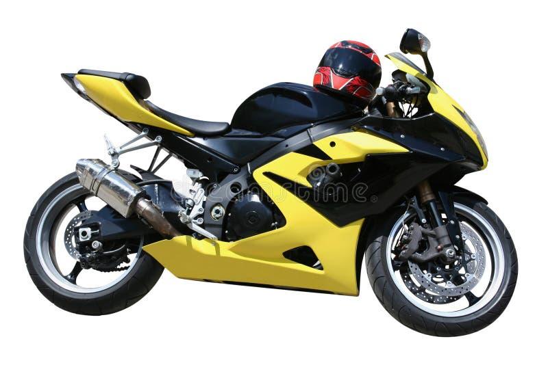 Moto jaune images stock