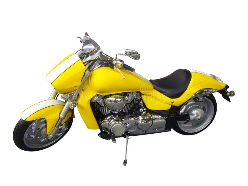 Moto jaune photo libre de droits