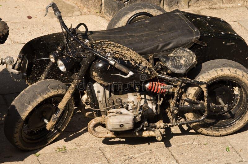 Moto militaire noire photos stock