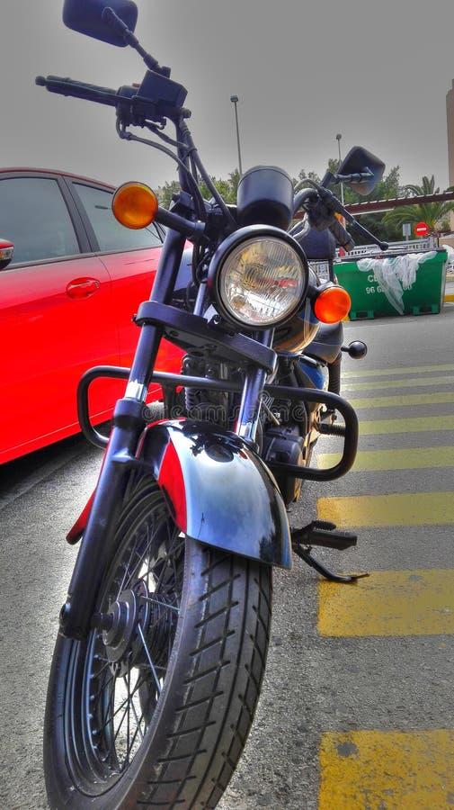 Moto motocicletasvart royaltyfri fotografi