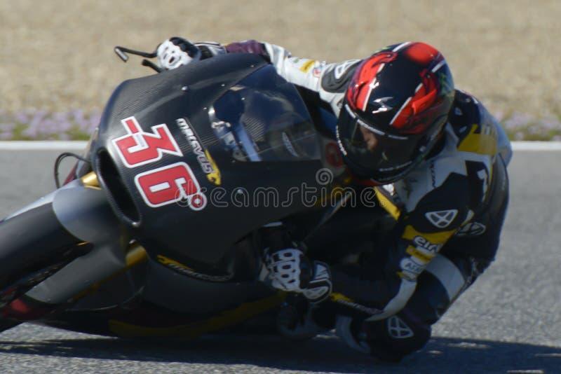 Moto2 prueba en la pista de Jerez - día 2. foto de archivo