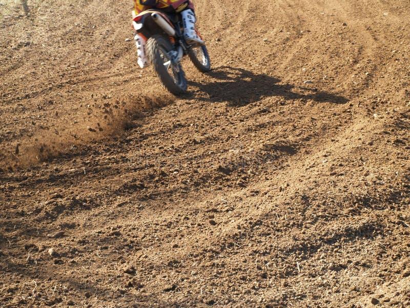 Moto Przecinający Jeździec Fotografia Stock