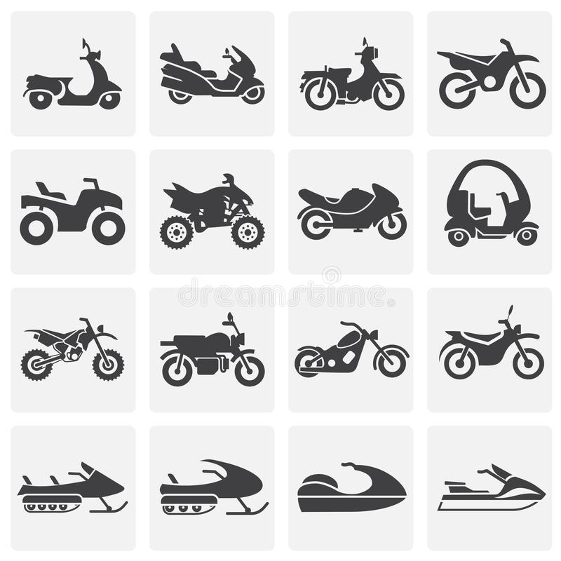Moto related icons set on background for graphic and web design. Simple illustration. Internet concept symbol for. Website button or mobile app vector illustration