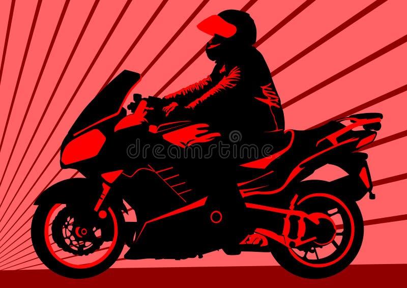 Moto rouge illustration libre de droits