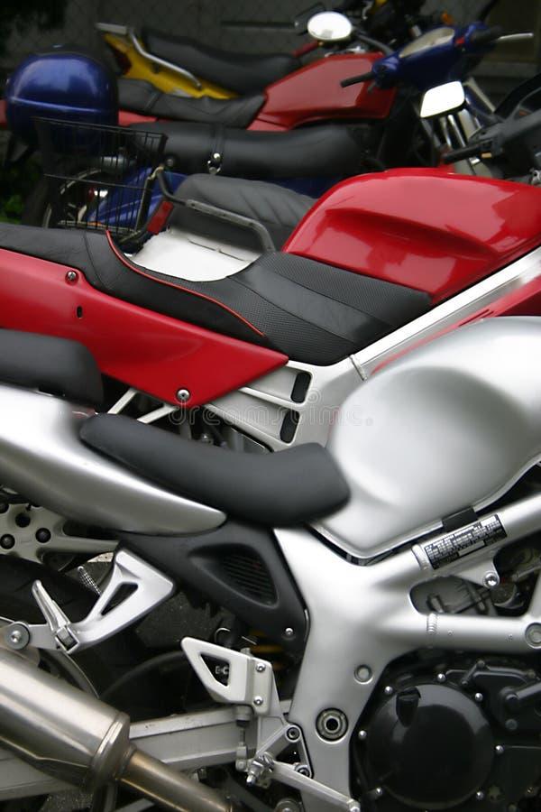 Moto rouge photographie stock