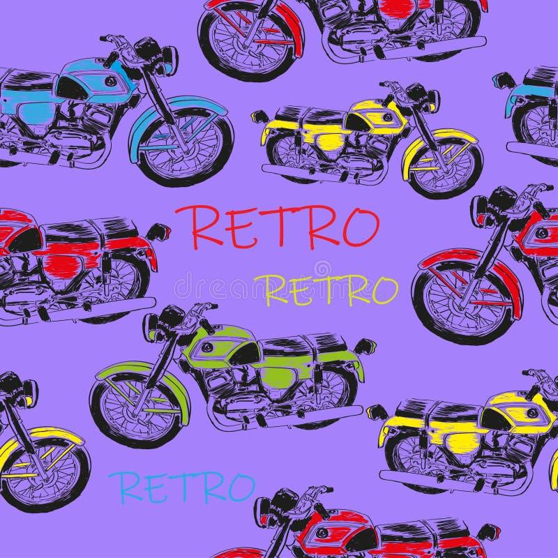 Moto sans joints de style rétro photographie stock