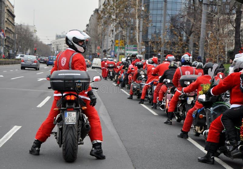 Moto Santa Claus lizenzfreie stockfotos